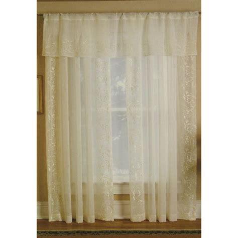sheer ivory curtains elrene home fashions new addison ivory sheer rod pocket