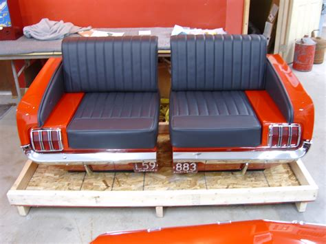 mustang car couch new retro cars restored classic car furniture and decor