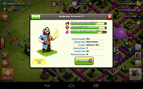 clash of clans wizard level 4 clash of clans upgrading level 4 wizards youtube