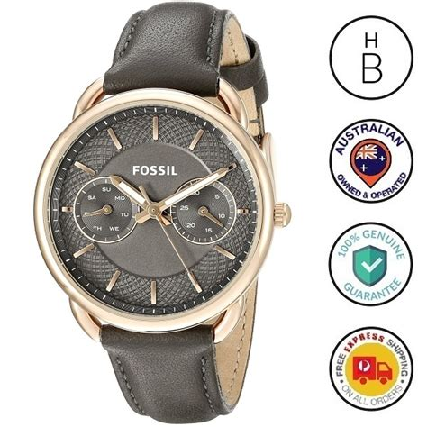 Fossil Tailor Gray Es3913 new fossil tailor grey gold trim
