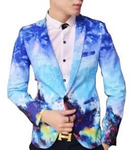 colorful mens blazers fashionable blue artistic blazer