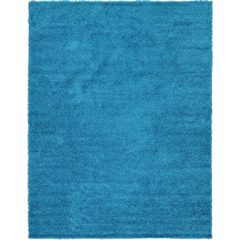 Aqua Blue Area Rugs Unique Loom Solid Shag Aqua Blue 10 Ft X 13 Ft Area Rug