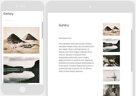 Montauk Structure And Style Squarespace Help Squarespace Templates With Sidebar