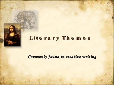 theme in literature powerpoint high school literary theme review