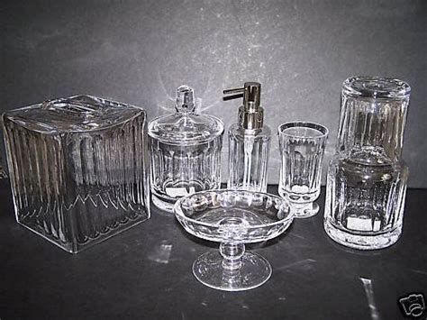 crystal bathroom accessories sets waterworks faceted crystal bath accessories set new