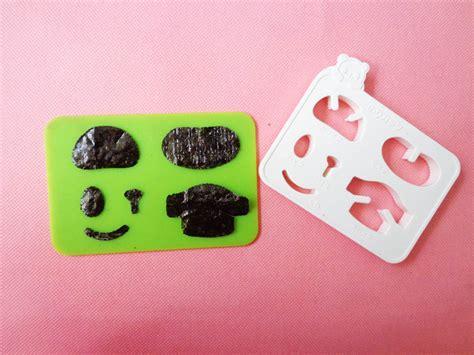 Cetakan Nasi Bento Pemotong Nori Mini Panda cara membuat bento imut dan mudah forbento