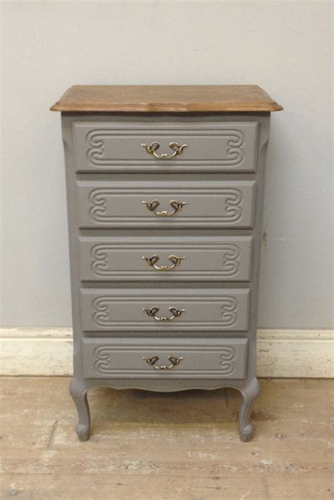 Slim Dresser by A3640 Vintage Slim Chest Of Drawers