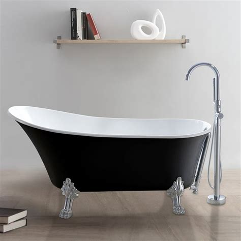 baignoire a pieds baignoire ilot noir pied de en vente en ligne pas cher