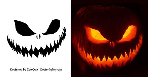 scary pumpkin carving templates 20 free scary pumpkin carving stencils faces