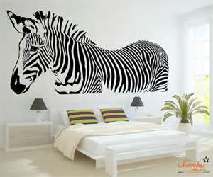 zebra wall decal by chamber decals eclectic wall zebra wall decal zebra sticker zebra wall by wallcrafters