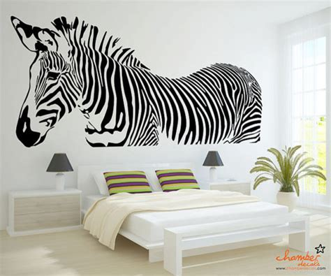 zebra stickers for walls zebra wall decal by chamber decals eclectic wall