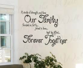 Christian Wall Murals a circle strength and love our family faith inspirational