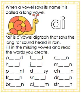 ai vowel pattern worksheets long a vowel sound ai worksheet free and printable from