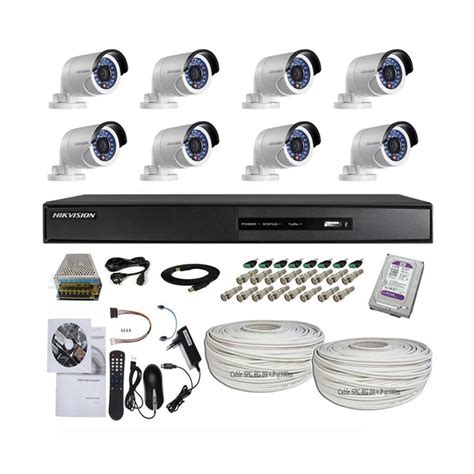 Paket Cctv Original Hik Vision Resmi 2 0 Mp 1080 P Hd jual hikvision 8 channel turbo hd paket kamera cctv 2 0 mp cable 100 m harga