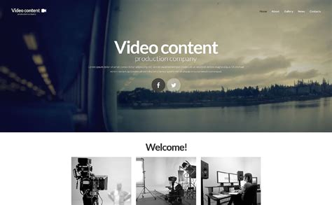 website templates for video production company video production website template 52335