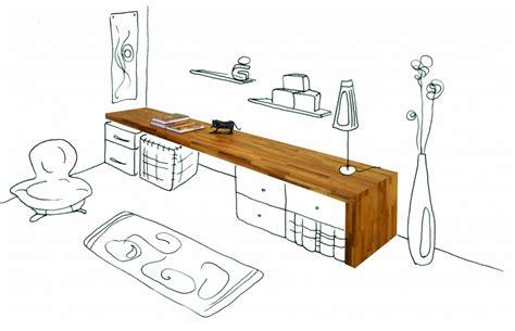 arri鑽e plan de bureau bureau flip design bois