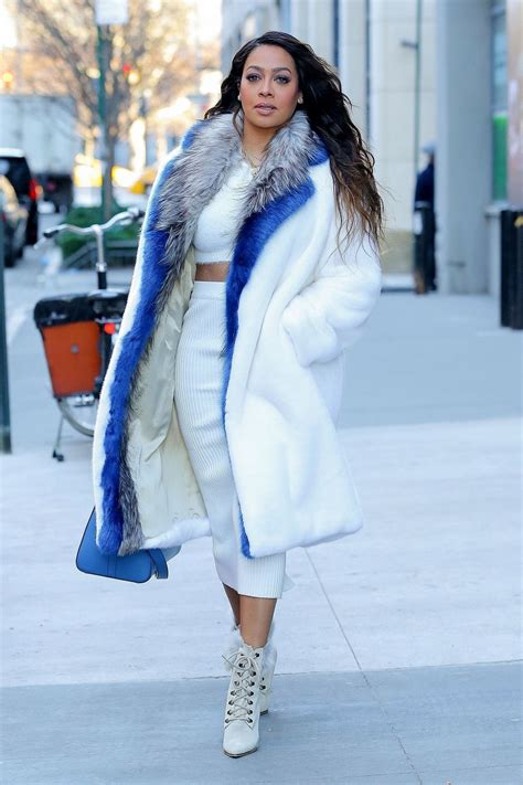 Lala Anthony Hairstyles by La La Anthony In Winter Inspired Look In Nyc