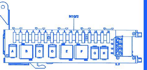 mercedes kl  mini fuse boxblock circuit breaker diagram carfusebox