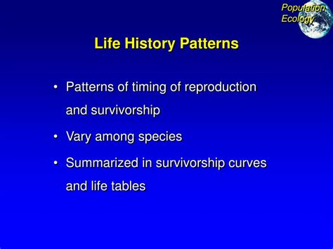 life history pattern ppt ppt population ecology and ecosystems powerpoint