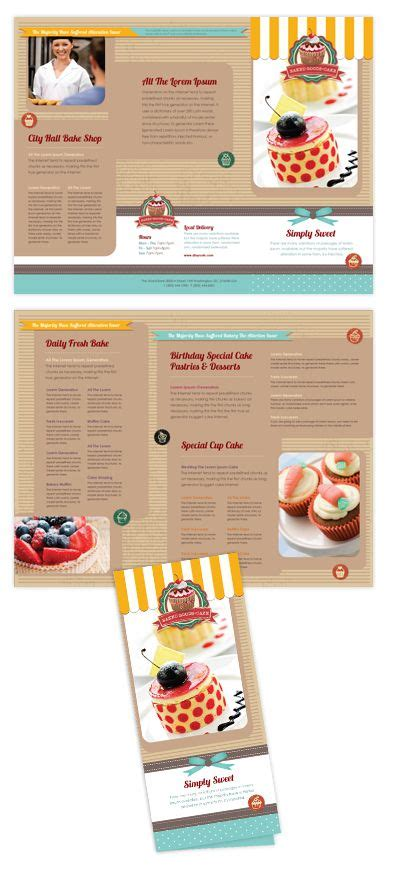 Cake Shop Tri Fold Brochure Template Will Be A Good Choice For Presentations On Bakery Find Tri Cake Brochure Template Free