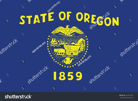 pacific northwest design stock vector illustration of flag of oregon is a state in the pacific northwest region