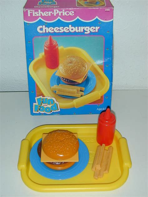 Fisher Price Fun with Food Cheeseburger Fries Ketchup Tray