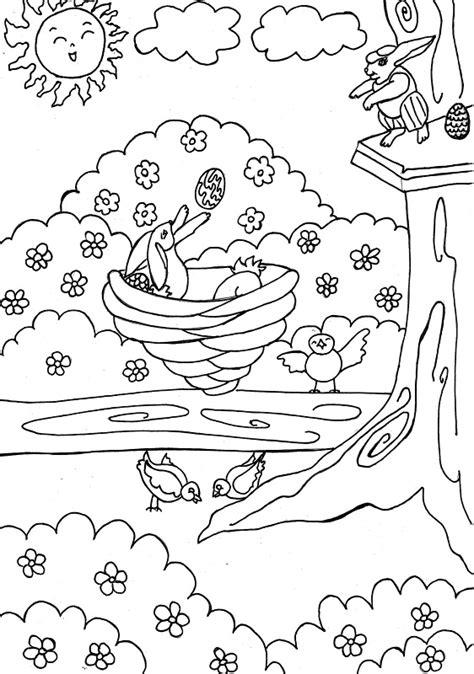 Primavera - Dibujos para colorear