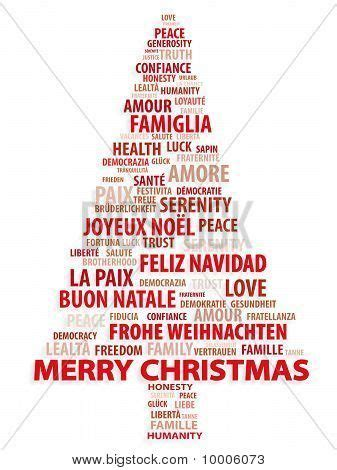 merry christmas   languages  photo  tree  words christmas card  diff