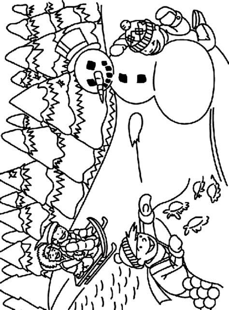 sledding   snow coloring page crayolacom