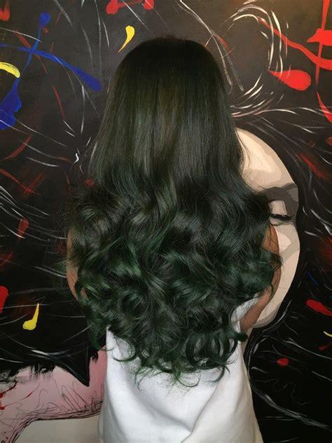 green hair colour  bleach   green hair