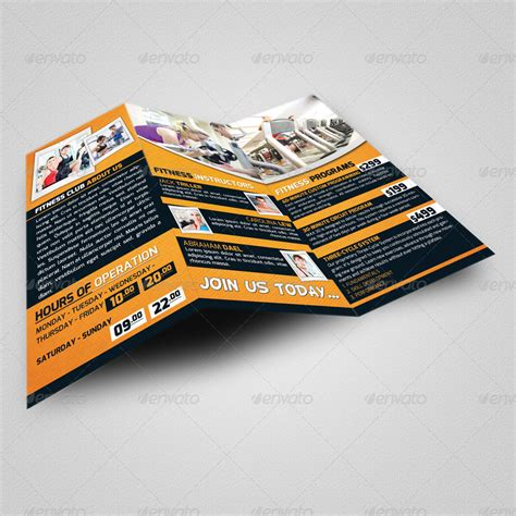 brochure templates to match vistaprint business cards fitness club trifold brochure business card by