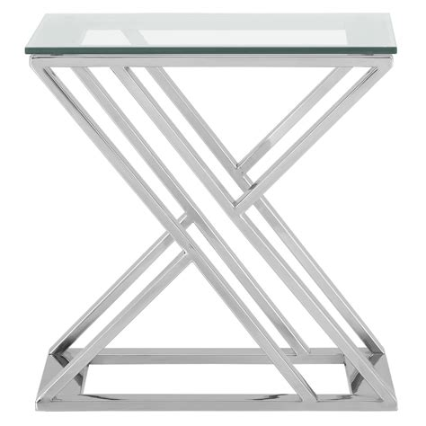 square glass end table city furniture glass square end table