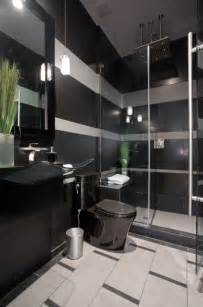 black grey and white bathroom ideas black and gray striped contemporary bathroom contemporary bathroom by chris
