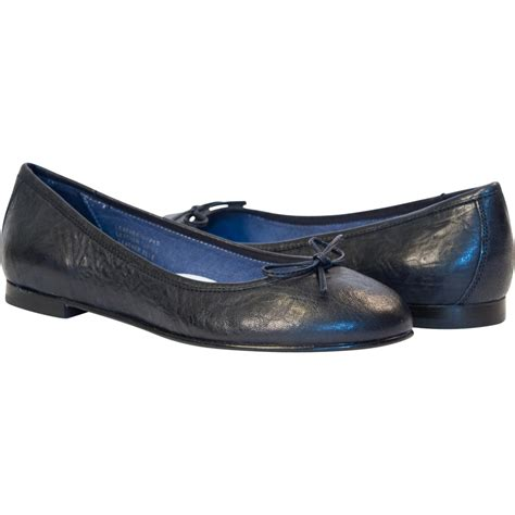 navy flat shoes navy blue nappa leather bow ballerina flat paolo shoes