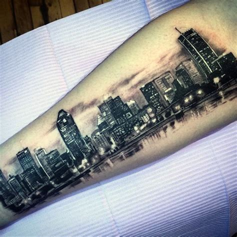 inner city tattoo 90 building tattoos for architecture ink design ideas