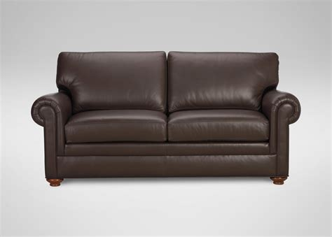 lather sofa conor leather sofa sofas loveseats