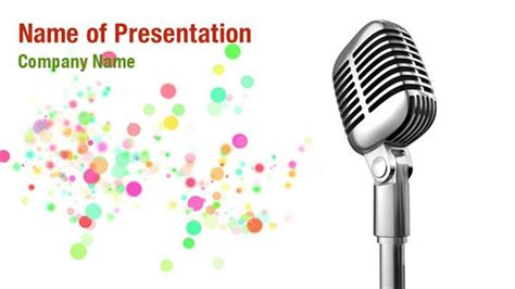 microphone template studio microphone powerpoint templates studio microphone