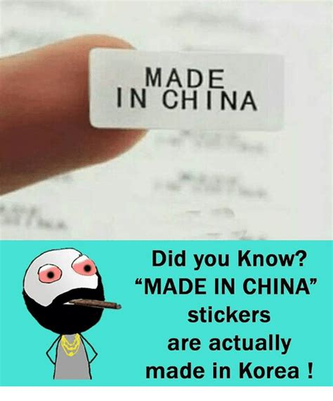 Where Are Made In China Stickers Made