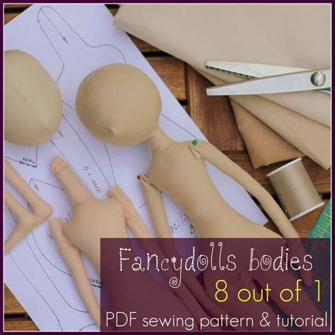 fabric doll template cloth doll sewing pattern tutorial fancydolls bodies pdf 8
