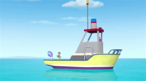 paw patrol on boat image paw patrol the flounder boat season 1 png paw