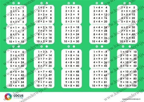 alle tafels van 1 tot 10 tafels en deeltafels speel leer doen