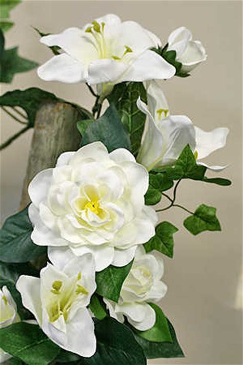 Gardenia Garland White Artificial And Gardenia Garland Garlands