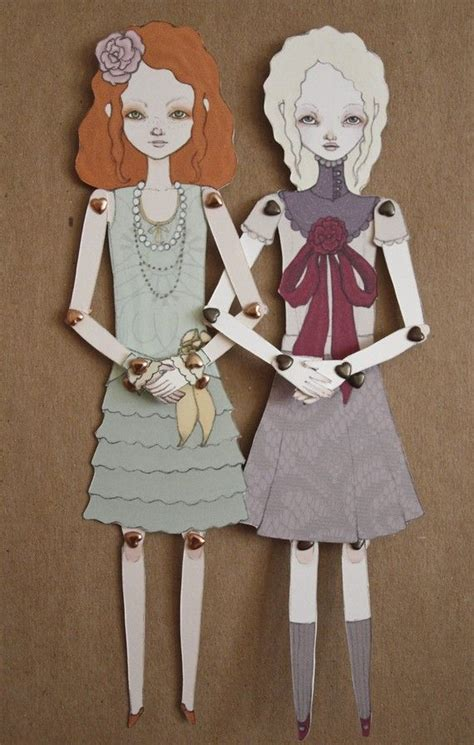 1000 images about jointed paper dolls on pinterest little eliza jointed movable paper doll by inkingcap on