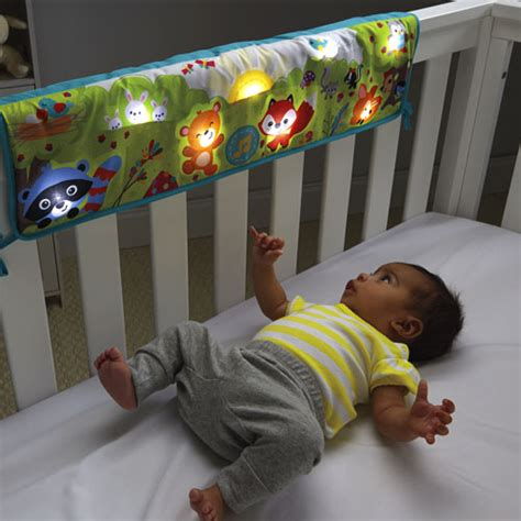 baby toys for crib woodland friends twinkling lights crib rail soother