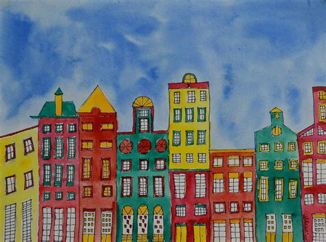 painting houses amsterdam houses painting by shruti prasad
