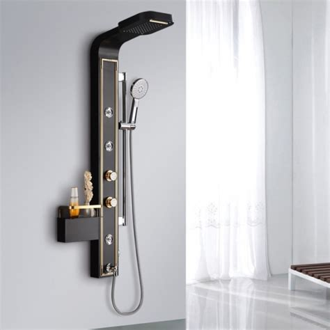 wall mounted shower shelf waterfall rainfall wall mounted shower panel with