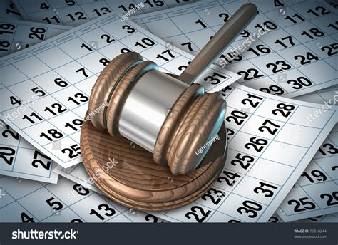 Court System Simple Search Delayed Justice In The Court System Represented By A Judge Mallet On A Bed Of Calendar