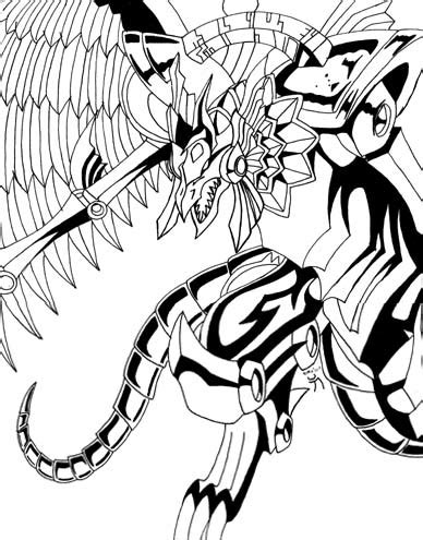 coloring pages winged dragon of ra yugioh the winged dragon of ra by akasha kaiba on deviantart