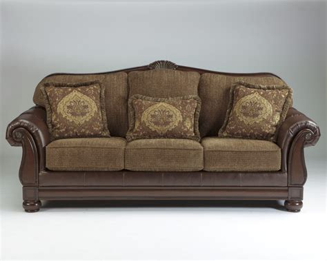 sofa sofa 3060538 ashley furniture beamerton heights chestnut sofa