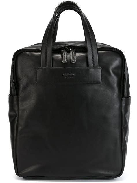 Bag Giorgio Armani Black Camel lyst giorgio armani laptop bag in black for